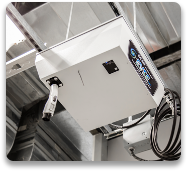 The 3722 Garage Overhead Charger Adapts to New Technologies and Charges Multiple Vehicles